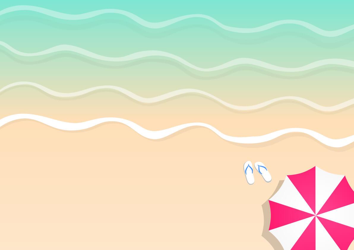 砂浜・ビーチパラソル